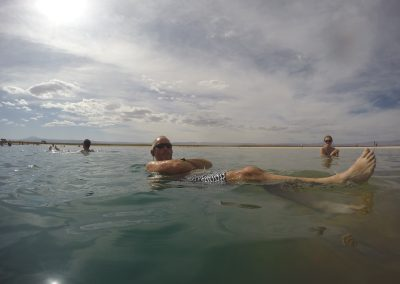 Floating on Cejar Lagoon