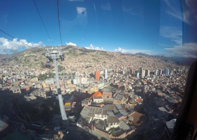 On the Teleférico (La Paz)