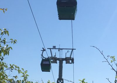 Chair lift across the Metro Park